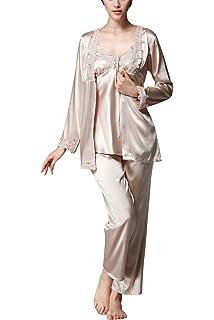 Dolamen Pijamas para mujer, Pijamas Mujer invierno Verano, 3-in-1 Mujer