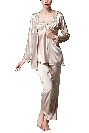 88c8d2d9a0 Dolamen Women s Nighties Satin and Pyjamas Set