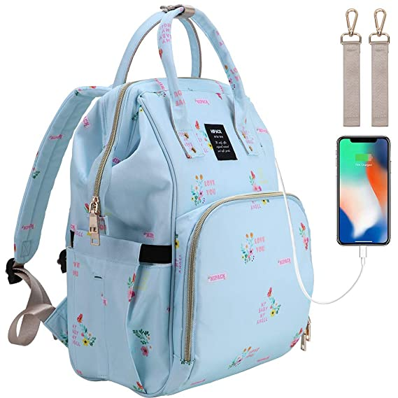 Funnideer Blue Baby Diaper Backpack