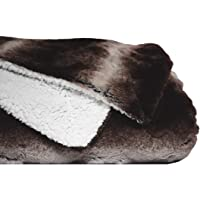 ViscoSoft Reversible Faux Fur Sherpa Blanket- Plush, Double-Sided with Luxurious Faux Fur and Plush Sherpa