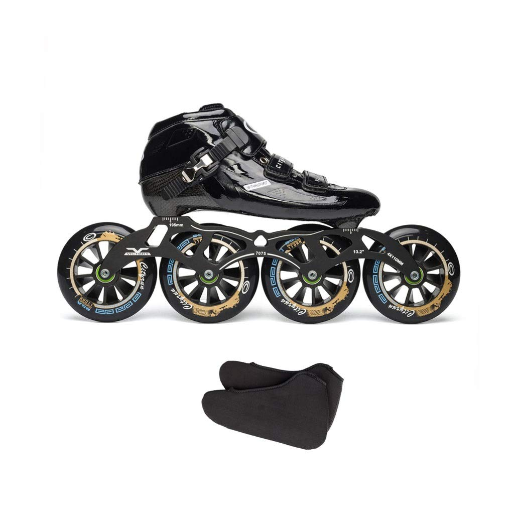 Ailj インラインスケート カーボンファイバースケート 子供用大人用単列スケート靴 贈物 4X110MMホイール 3色 供え 色 : C サイズ さいず EU 34 42 US 8 22cm B 2 9 UK B07QBMMLF3 26cm JP 3