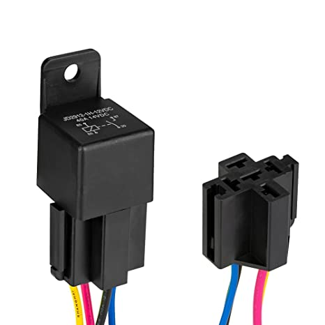 Automotive Relay Harness Set,Jtron 12V 40A 4-Pin SPDT With Interlocking on