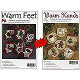 Bundles of Warm Hands & Warm Feet Christmas Ornament Felt Applique Patterns, Twelve (12) Designs