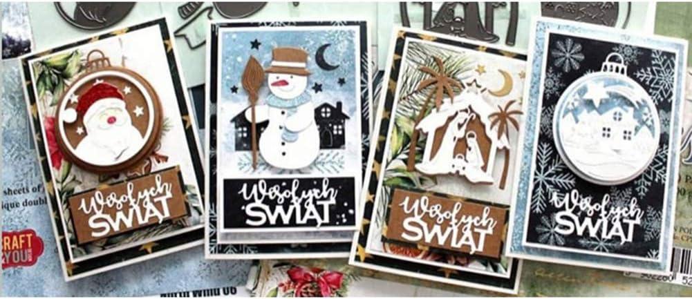 YESZ Scrapbooking /& Stamping,Cutting Dies,Christmas Metal Cutting Dies DIY Scrapbook Emboss Paper Card Making Stencil Mold 2568