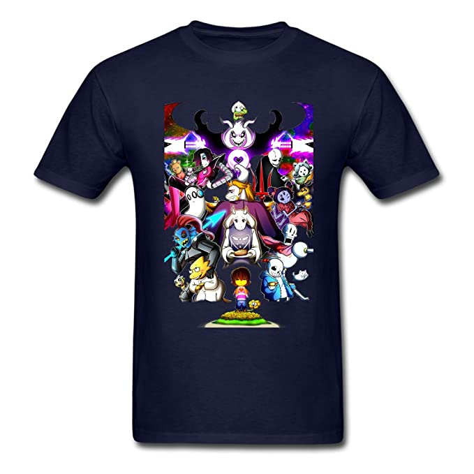 Strong Durability Undertale Characters Filled With Determination Mens T-Shirt Small
