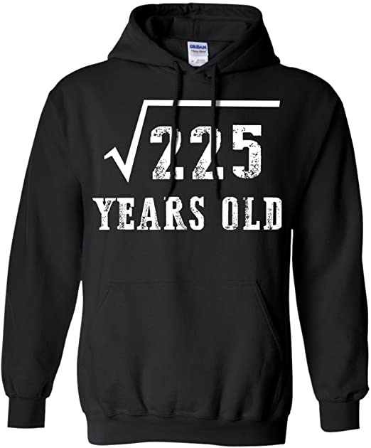 Amazon Com Proud Age Tee Square Root Of 225 15th Birthday 15 Years Old Shirt Hoodie Clothing Simplify square root of 225. amazon com