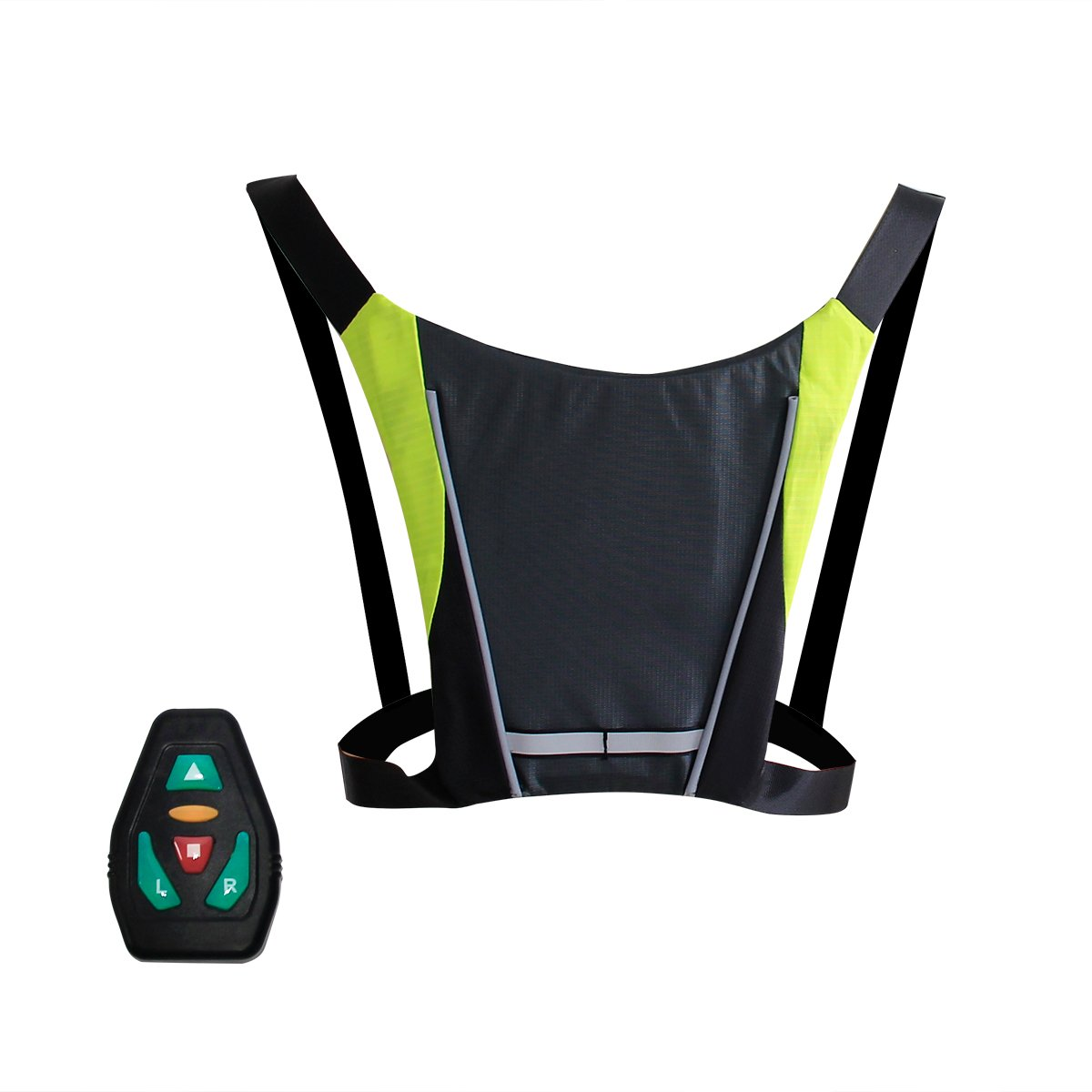 UBOWAY LED Indicator Backpack - Rechargeable Outdoor Sports Safety Vest Direction Indicator for Night Riding, Cycling, Running, Walking, Jogging