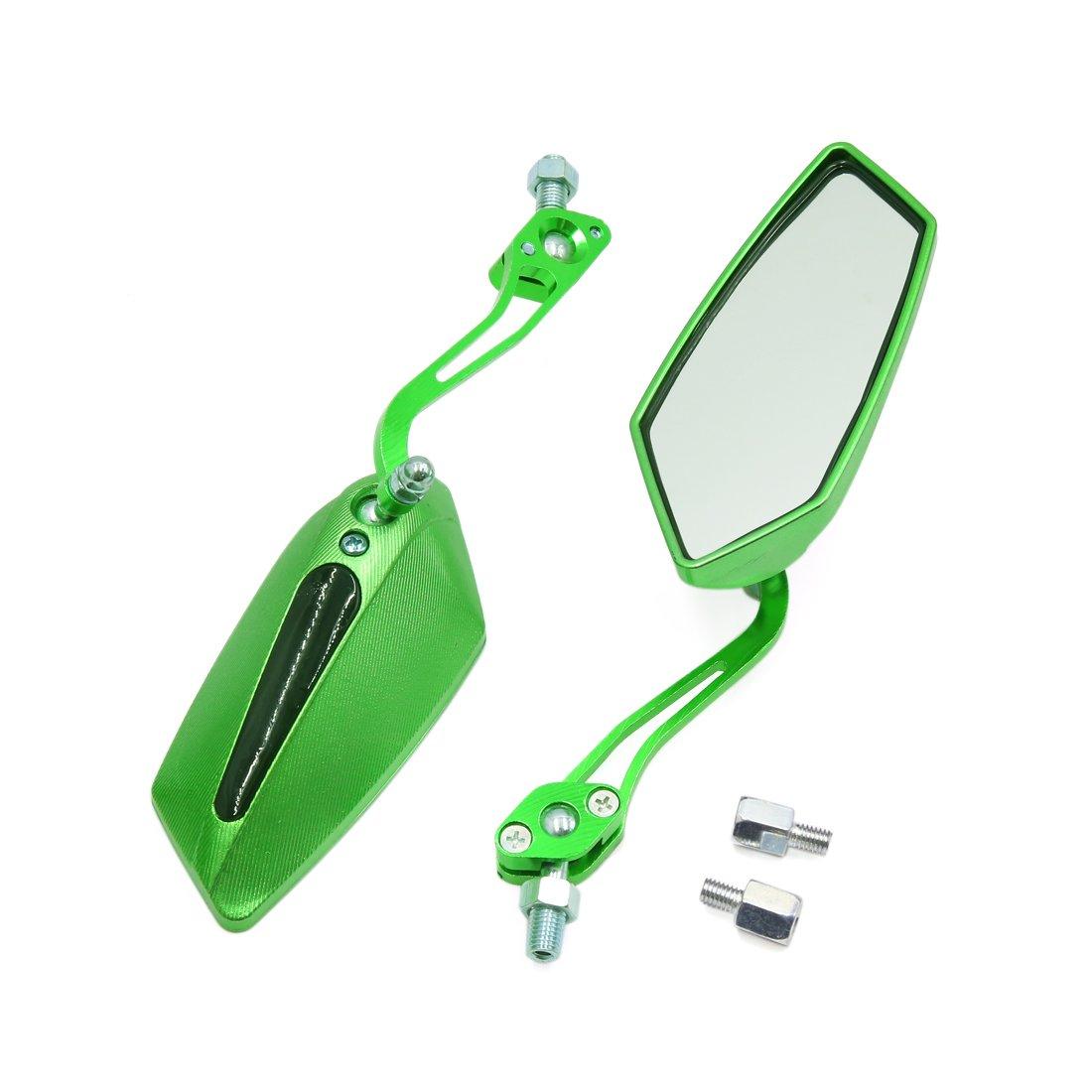 sourcingmap® Paire rétroviseur réglable vert miroir angle mort Pentagone pour moto a17030300ux1464