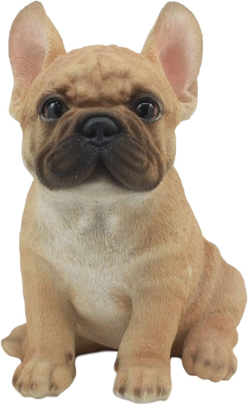 Ebros Realistic Lifelike French Bulldog Puppy Statue 7 Tall Frenchie Figurine Dog Animal Collectible