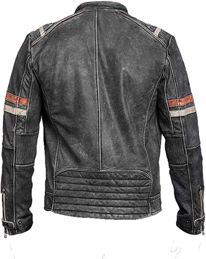 Trailblazerzz Mens Leather Jackets Motorcycle Bomber Biker Real Lambskin Leather Jacket for Men