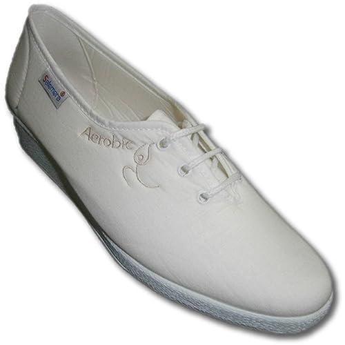 Zapatillas cordones cómodas para andar con cuña Salemera en blanco talla 36: Amazon.es: Zapatos y complementos