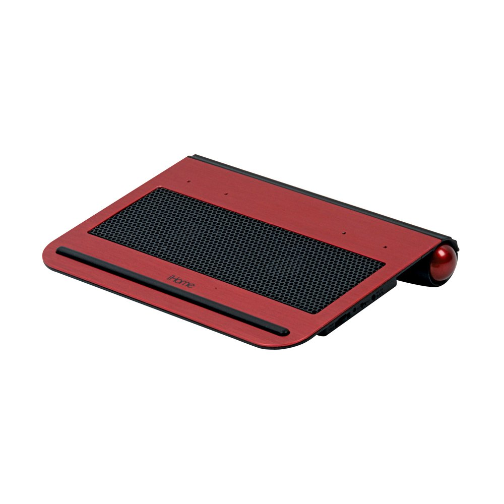 iHome Netbook Cooling Pad with 2 Built-In Fans, Red (IH-A714CR)