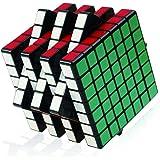 Shengshou ルービックキューブ  7x7x7 ブラック 立体パズル スムーズ回転 ストレス解消 子供マジック 競技用 回しやすい 持ち運び可能 子供脳トレ 知育玩具
