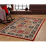 "Traditional Oriental Medallion Area Rug Persian Style Carpet Red Maharaja 618 furnishmyplace - 8'2""x10'"