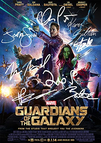 Large 	Guardians of The Galaxy GOTG Movie Print Cast Chris P