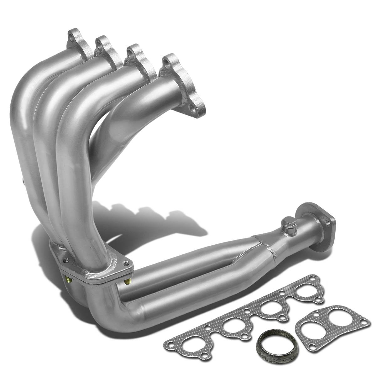 For Honda Civic/CRX/Del Sol Performance 4-2-1 Design Stainless Steel Exhaust Header Kit (Silver Paint Finished)