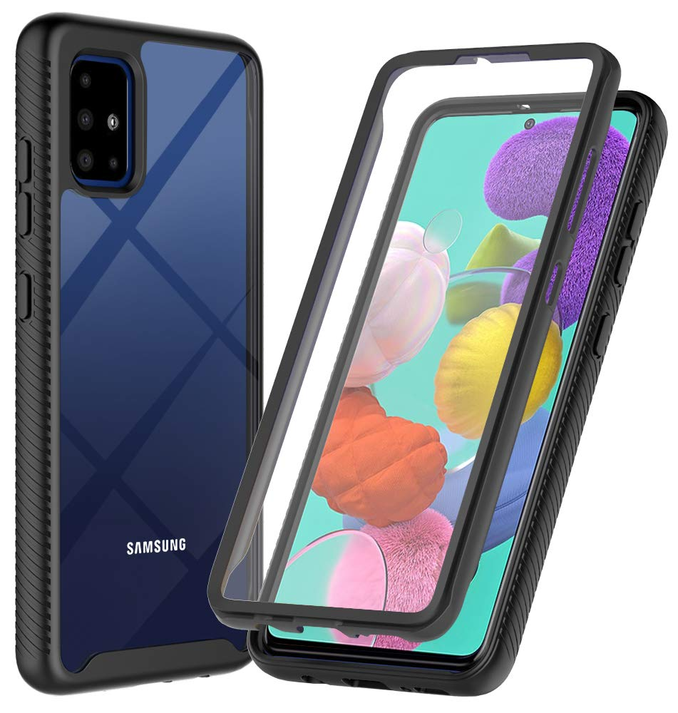 Funda Protectora 360 Para Samsung A51, Negro