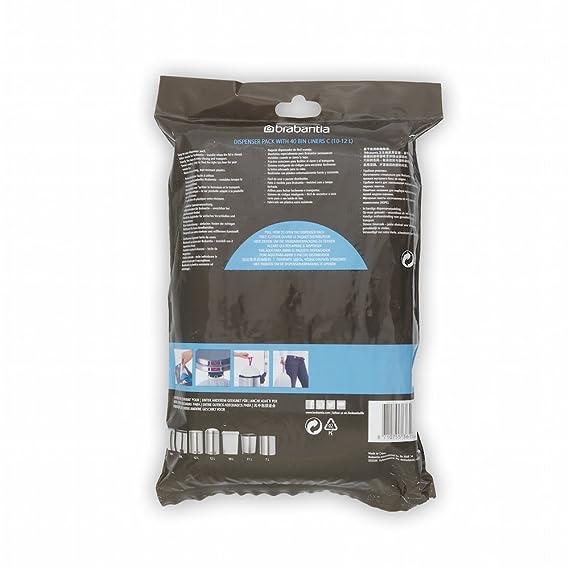 Brabantia 361982 Trash Bags, 12 Liter (40 Stück), White