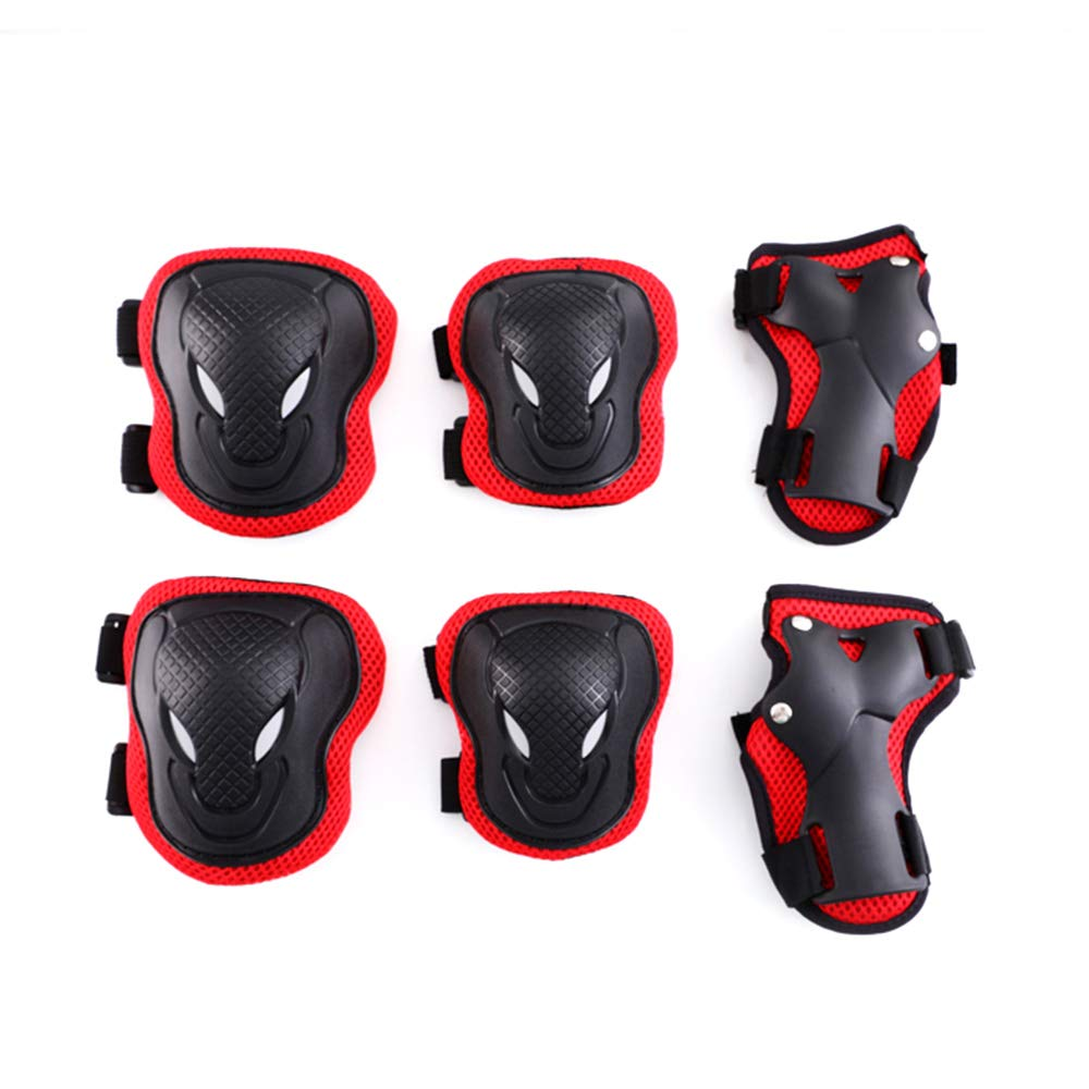 Fabmore Kids Knee and Elbow Pads with Wrist Guards, Adjustable Protective Gear Set for Scooter Cycling Skateboard Rollerblade
