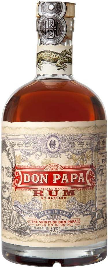 Don Papa ron 40 ° - El Espíritu de Don Papa 70 cl: Amazon.es ...