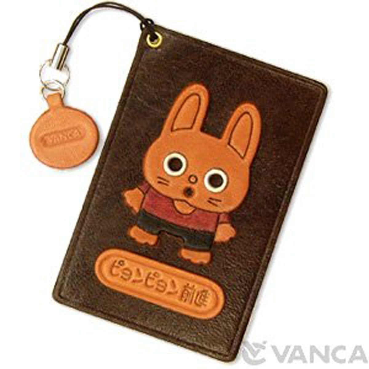 RabbitレザーAnimal Pass/ID/クレジットカード/カードホルダー/casevancaハンドメイドの日本   B00AO0IDAU