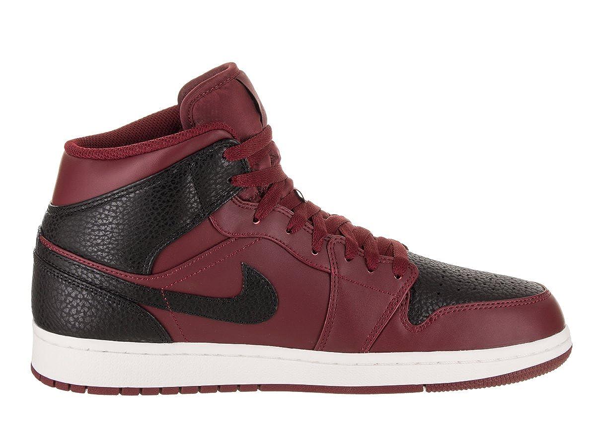 Nike Air Jordan 1 Mid, Scarpe da Basket Uomo, Rosso (Team Re D Black Summit White 601), 46 EU