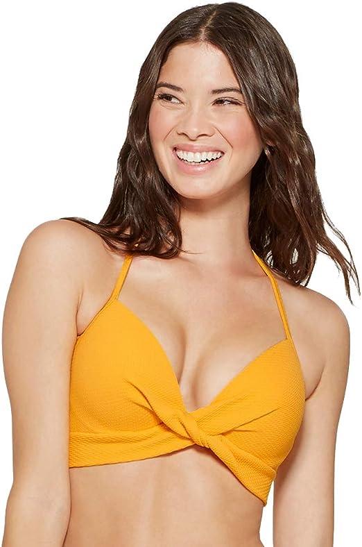 Women's Shade And Shore Black Floral Light Lift Bikini Top Size 36C NWOT