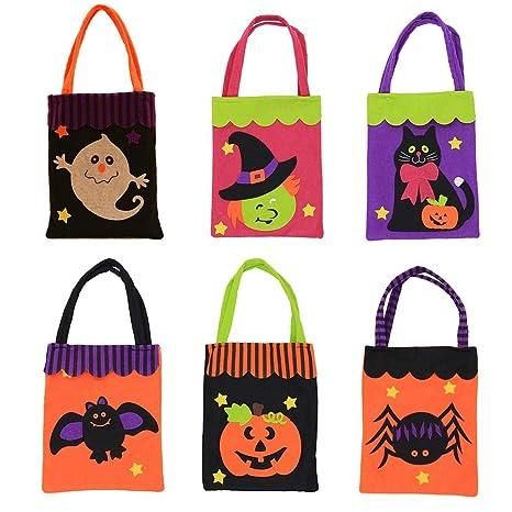 favourall - 5 Bolsas de Tela para Caramelos de Halloween ...