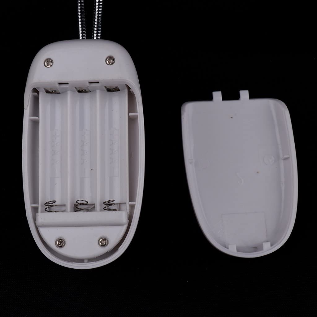 USB wiederaufladbar LED Klemmleuchte Schreibtischlampe Schwarz Notenpultleuchten Leuchte f/ür Notenst/änder kinderbeleuchte F Fityle LED Doppelkopf 8 LEDs Buchlampen