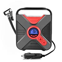 Amazon.com deals on TinMiu Air Compressor Pump, Portable Car Pump Tire Inflator