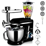5.5L Stand Mixer with Blender Meat Grinder Juicer for Kitchen Powerful Electric Mixers with Pouring Shield, 5 in 1…