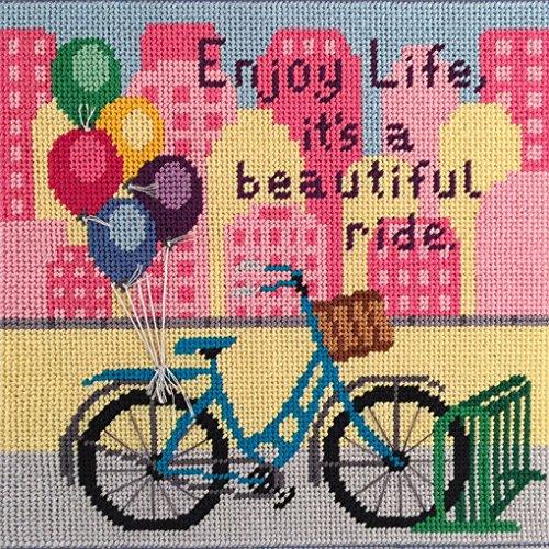 Canoodles-- Enjoy Life Bike Ride-- Needlepoint Kit ()