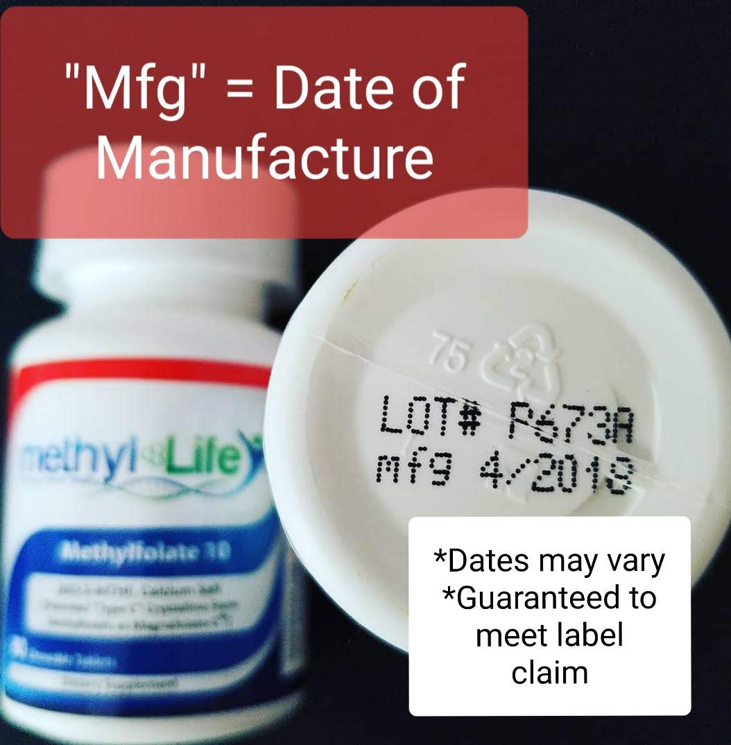 L-METHYLFOLATE 10 mg Supplement by Methyl-Life - L-5-MTHF (or (6S)-5 Methylfolate) calcium salt - 90 Chewable NON GMO Tablets for Optimal Absorption