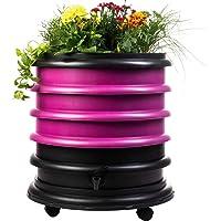 WormBox : Vermicompostador 3 bandejas Frambuesa + Jardinera - 56 litros