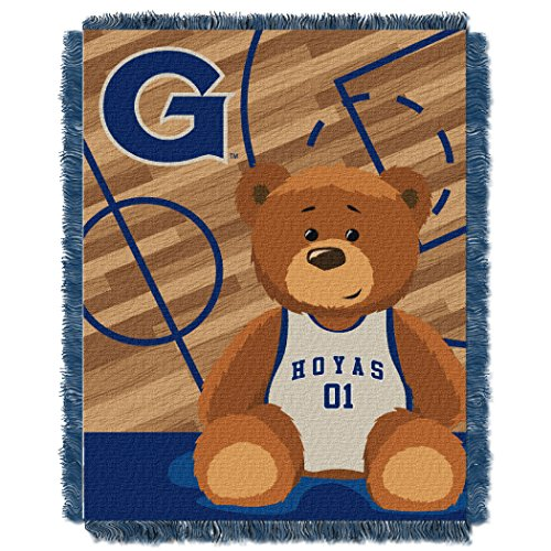 Georgetown Football Rug (Georgetown OFFICIAL Collegiate, Fullback Baby 36x 46 Triple Woven Jacquard Throw)