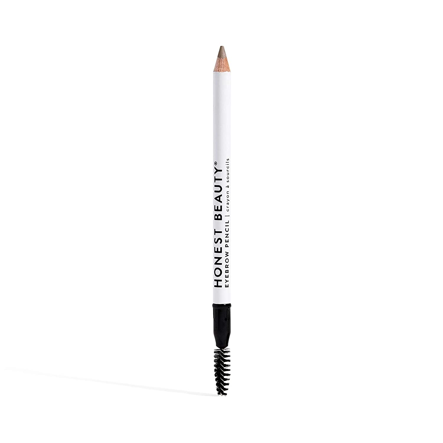 Honest Beauty Eyebrow Pencil with Spoolie, Brown | Buildable & Blendable with Jojoba Seed Oil | Paraben Free, Dermatologist Tested & Cruelty Free | 0.039 oz.