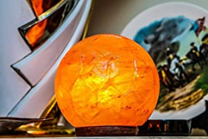 Himalayan Salt Football Lamp