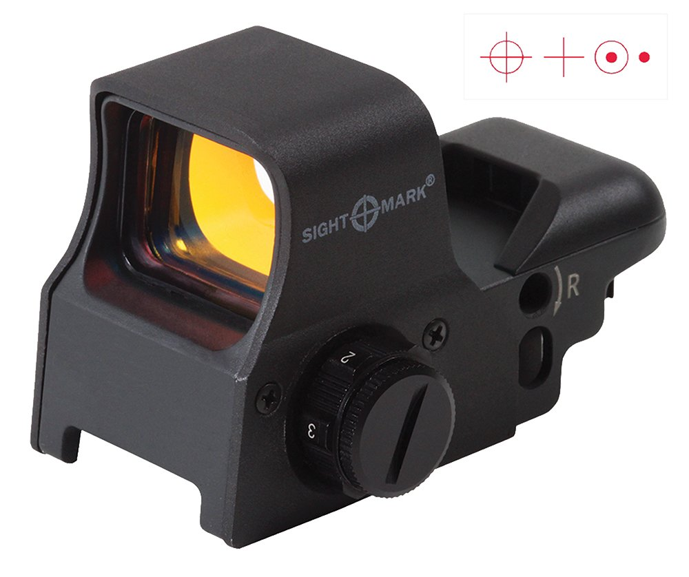 Sight Mark Hombre Reflex Sight incre dibly Lightweight for Its Size, The Ultra Shot Características M0093Four Lit Reticle Patterns, Adjustable Brightness Settings and a Wide Field of View, Negro, M SIGHW|#Sightmark SM13005