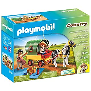 PLAYMOBIL Picnic with Pony Wagon
