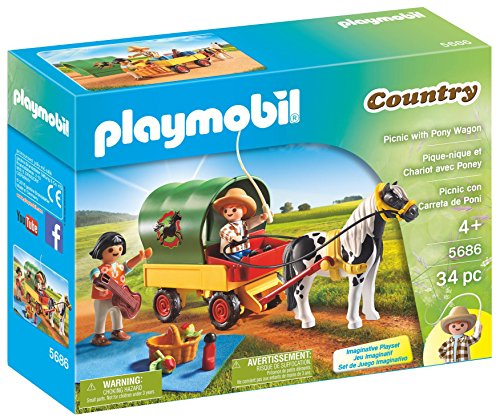 PLAYMOBIL Picnic Pony Wagon Playset product image