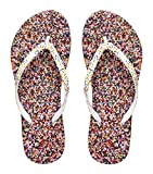 Showaflops Girls' Antimicrobial Shower & Water Sandals for Pool, Beach, Camp and Gym - Sprinkle Heaven 13/1
