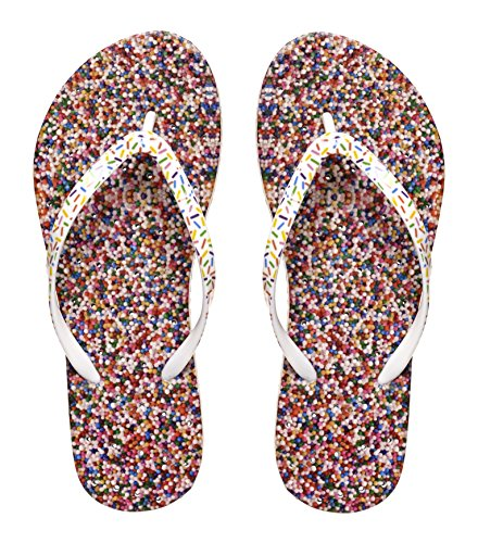Womens' Antimicrobial Shower & Water Sandals for Pool Beach Dorm and Gym - Sweet Treats Collection