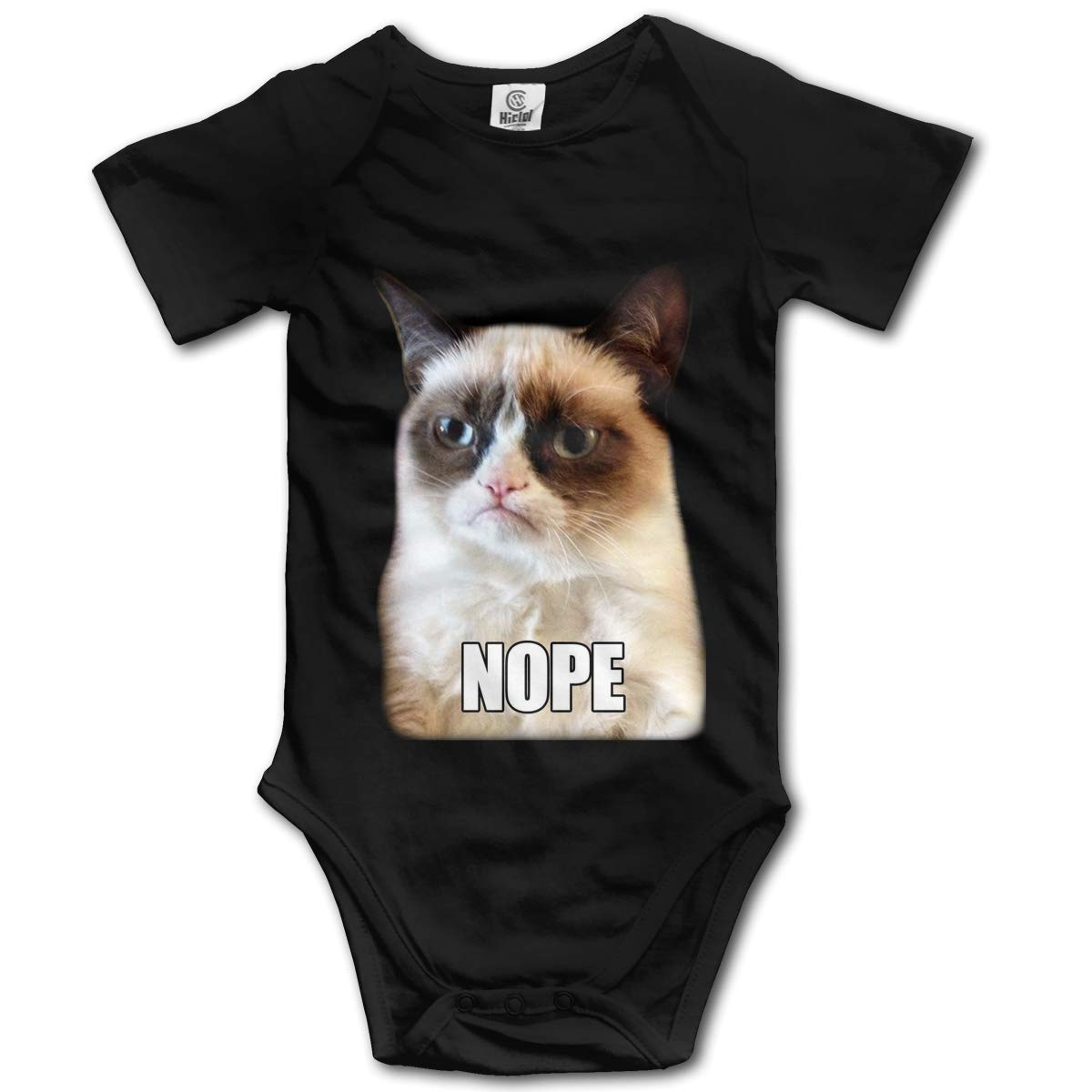 Bodysuits Clothes Onesies Jumpsuits Outfits Black Grumpy Cat Nope Expression Baby Pajamas