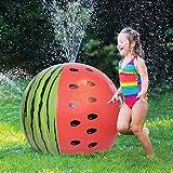 """JOYIN Mega Melon Ball Jumbo Sprinkler, 35.5"""" Watermelon Inflatable Sprinkler Toys for Kids Toddlers"""
