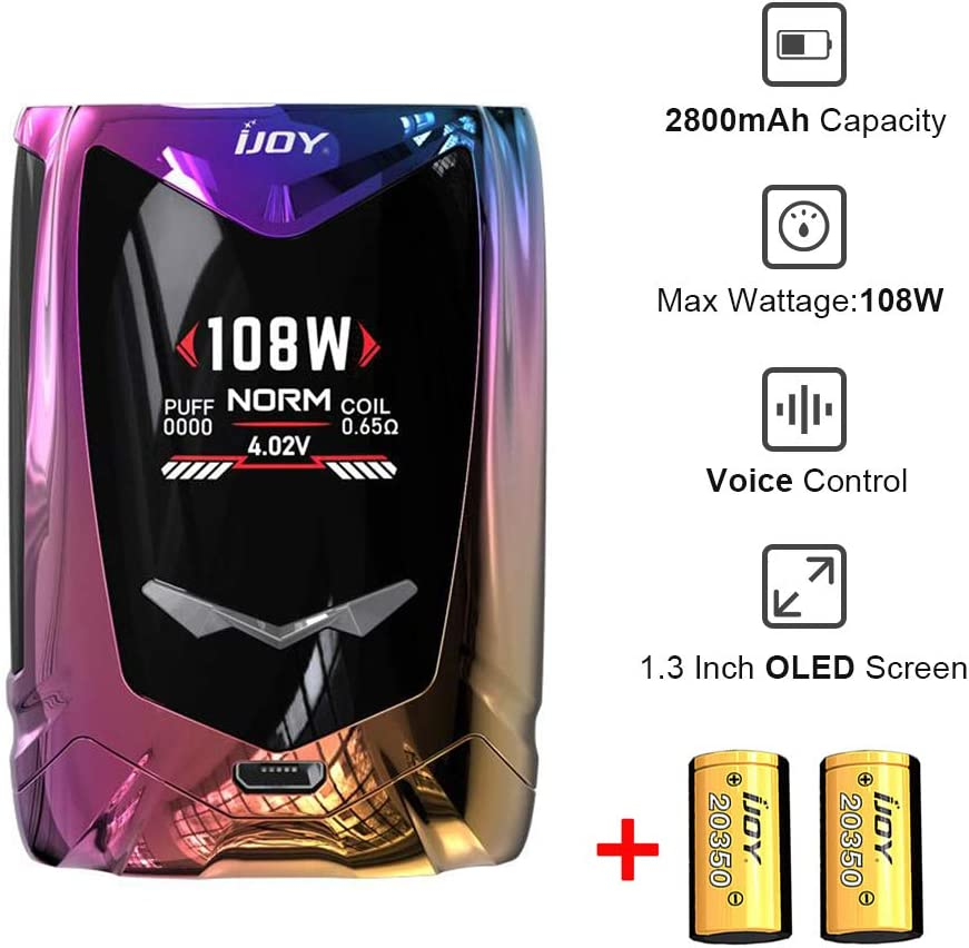 IJOY Avenger Baby 108W Voice Control TC Mod Box Included 2 * 20350 ...