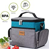 Yitour Collapsible Cooler Bag, Portable Travel Soft Sided Insulated Lunch Bag for Beer/Beach/Picnic/Camping/BBQ/Office/School with Detachable Shoulder Strap & Removable Plastic