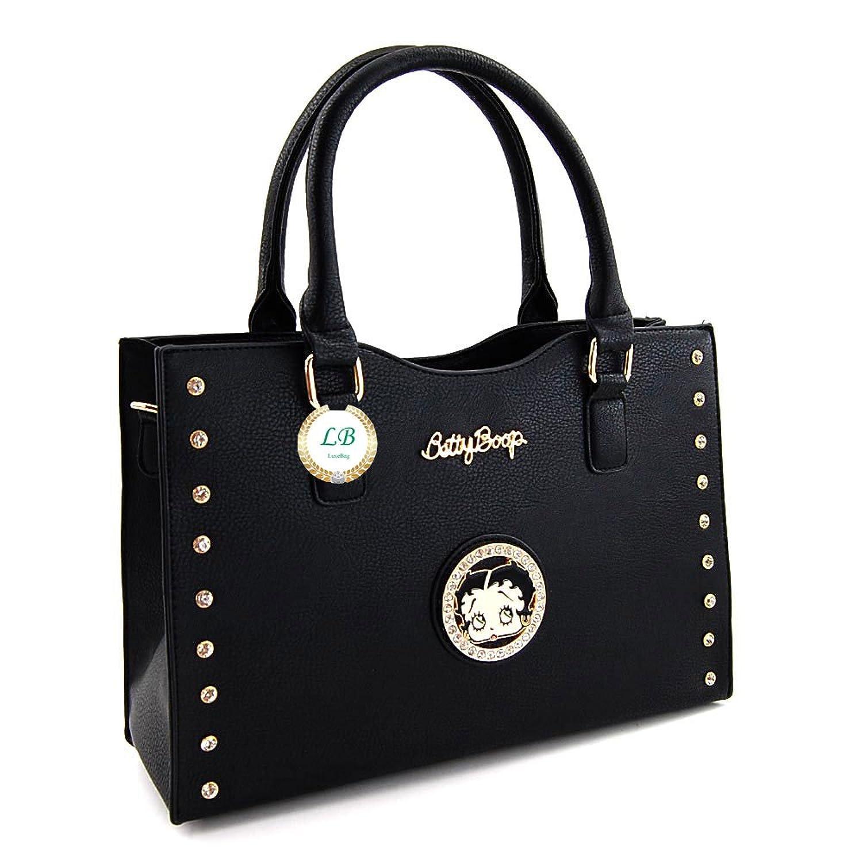 Betty Boop Premium Structured Handbag, Medium Size Satchel Style