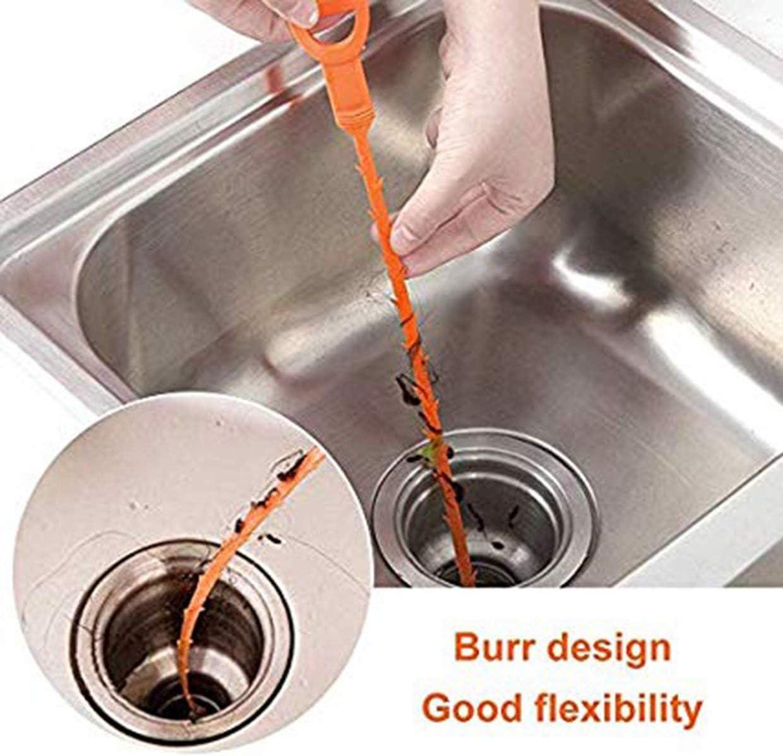 WC orange YUIO Abflussschlange Haarablauf Verstopfungswerkzeug Rohrreinigung Entferner /Öffner f/ür Waschbecken und Badewanne Erdlochbohrer