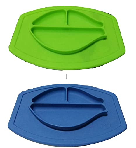 2bandejas de silicona de calidad alimentaria para trona de bebé con ventosas antideslizantes