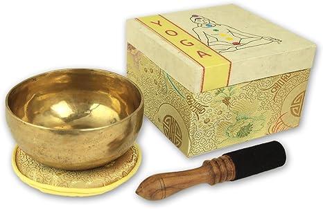 Set de regalo Yoga Cuenco tibetano con accesorios en caja de regalo con símbolo Chakras Cestas Rectangulares, incluye base y madera.De/piel mazo de 5069 de l de: Amazon.es: Instrumentos musicales